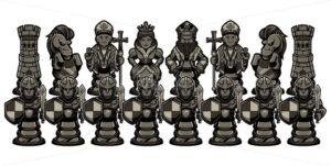Chess Cartoon Figures Black - Martin Malchev