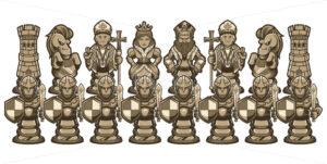 Chess Cartoon Figures White - Martin Malchev