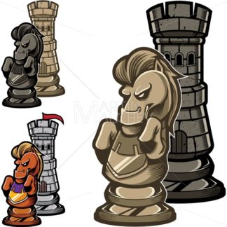Chess Rook and Knight - Martin Malchev
