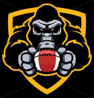 Gorilla American Football Mascot - Martin Malchev