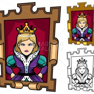 Queen Cartoon Portrait - Martin Malchev