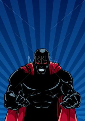 Raging Superhero Ray Light Background Silhouette - Martin Malchev