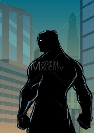Superhero Back No Cape City Silhouette - Martin Malchev