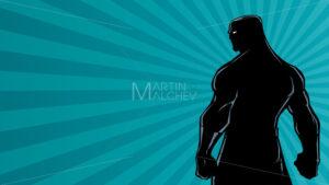 Superhero Back Ray Light Silhouette - Martin Malchev