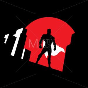 Superhero Background Symbol - Martin Malchev