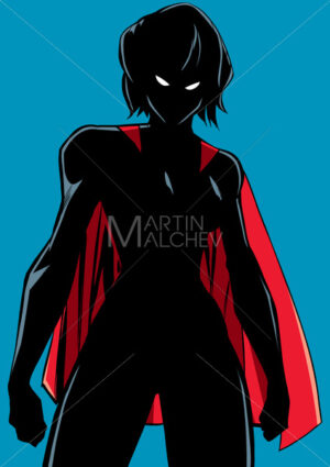 Superheroine Battle Mode Silhouette - Martin Malchev