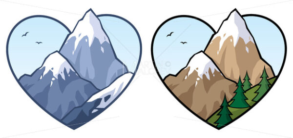 Mountain Love Sign - Clip-Art and Video