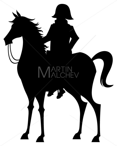 Napoleon Bonaparte on White - Clip-Art and Video