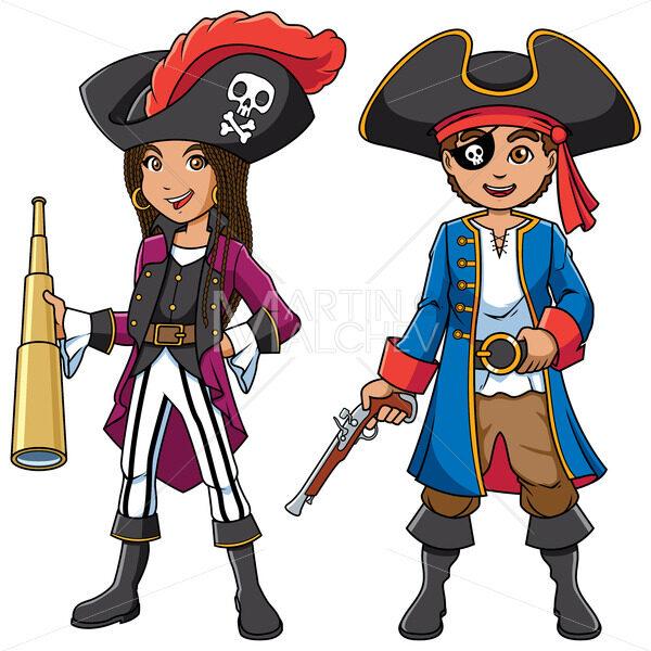 Pirate Kids Cartoon - Clip-Art and Video
