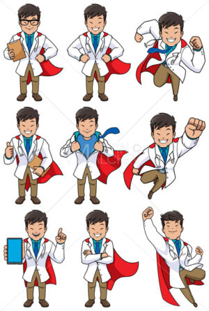 Super Doc Asian - Clip-Art and Video