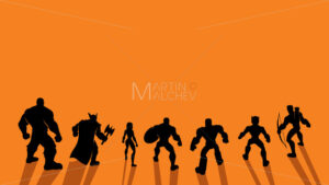 Super Team Back - Clip-Art and Video