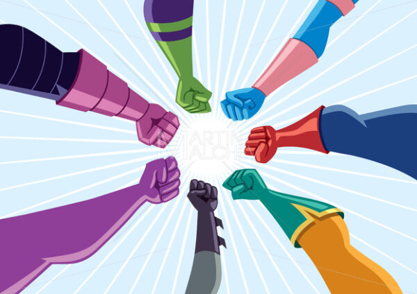 Superhero Team Assemble - Clip-Art and Video