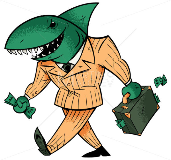 Business Shark Isolated - Martin Malchev