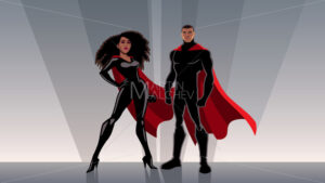Superhero Couple Black - Martin Malchev