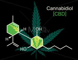 CBD Molecule on Black - Martin Malchev