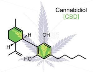 CBD Molecule on White - Martin Malchev