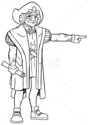 Christopher Columbus Line Art - Martin Malchev