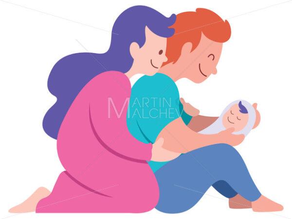 Newborn on White - Martin Malchev