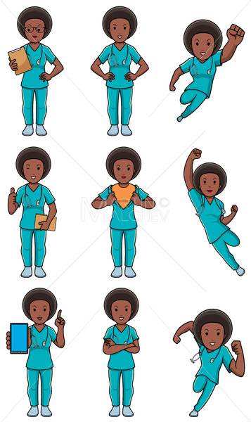 Nurse African Female Set - Martin Malchev