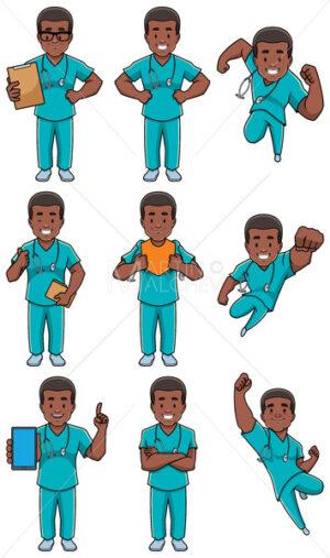 Nurse African Male Set - Martin Malchev