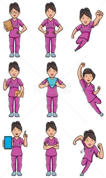 Nurse Asian Female Set - Martin Malchev
