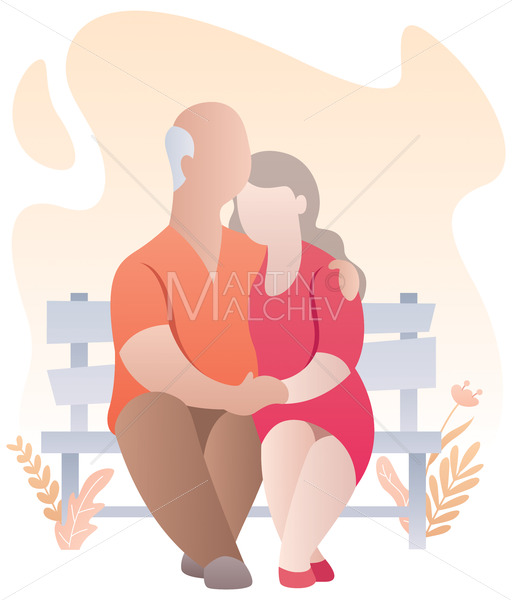 Old Couple Abstract - Martin Malchev