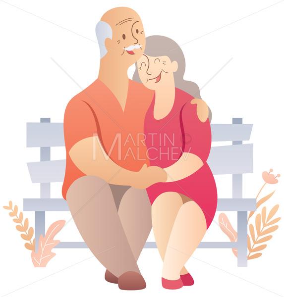 Old Couple on White - Martin Malchev