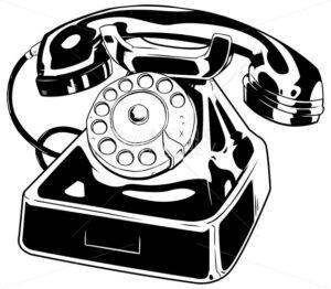 Old Phone Line Art - Martin Malchev