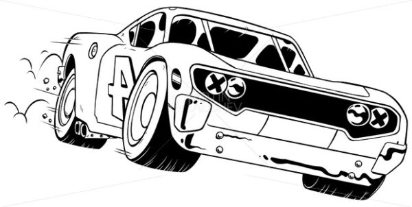 Race Car Line Art - Martin Malchev