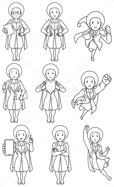 Super Doc African Female Line Art - Martin Malchev