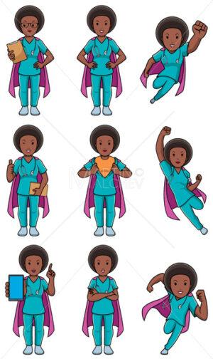 Super Nurse African Female Set - Martin Malchev