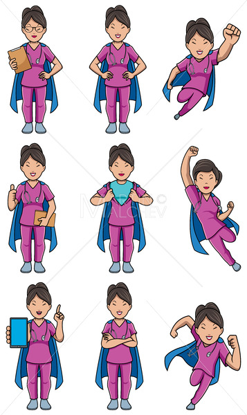 Super Nurse Asian Female Set - Martin Malchev