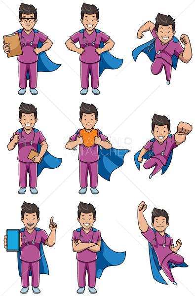 Super Nurse Asian Male Set - Martin Malchev