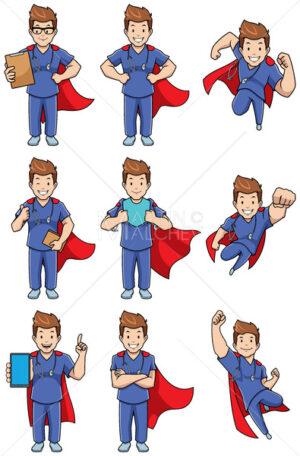 Super Nurse Caucasian Male Set - Martin Malchev
