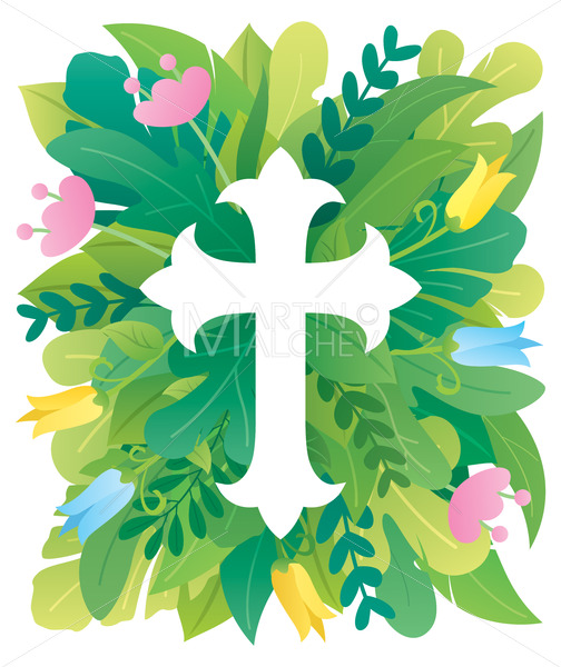 Abstract Christian Cross - Martin Malchev