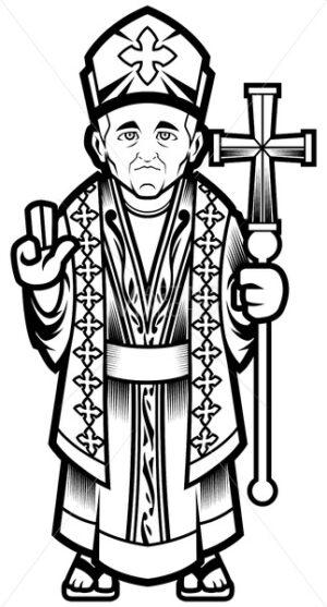 Bishop Line Art - Martin Malchev
