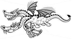 Cartoon Dragon Line Art - Martin Malchev