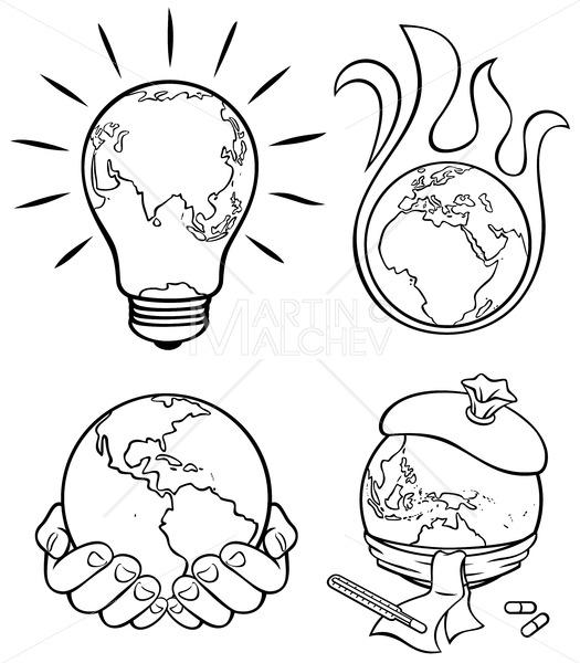 Ecology Concepts 3 Line Art - Martin Malchev