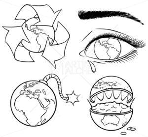 Ecology Concepts Line Art - Martin Malchev