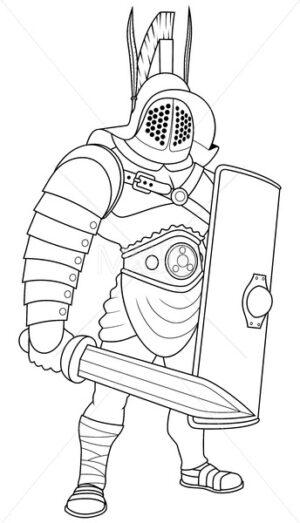 Gladiator Line Art - Martin Malchev