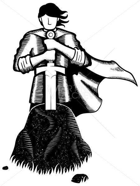 King Arthur Line Art - Martin Malchev