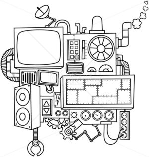 Machine Line Art - Martin Malchev