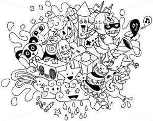 Party Doodle Line Art - Martin Malchev