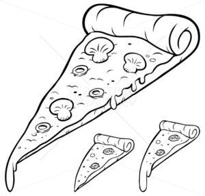 Pizza Slice Line Art - Martin Malchev
