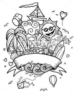 Summer Doodle Line Art - Martin Malchev