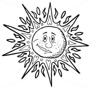 Sun Line Art - Martin Malchev