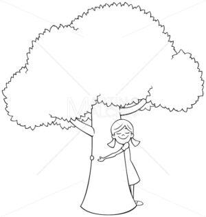 Tree Hugger Line Art - Martin Malchev