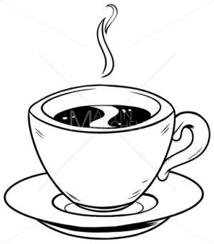 Coffee Cup Line Art - Martin Malchev