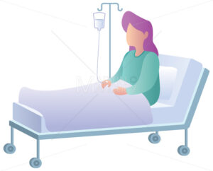 Woman in Hospital on White - Martin Malchev