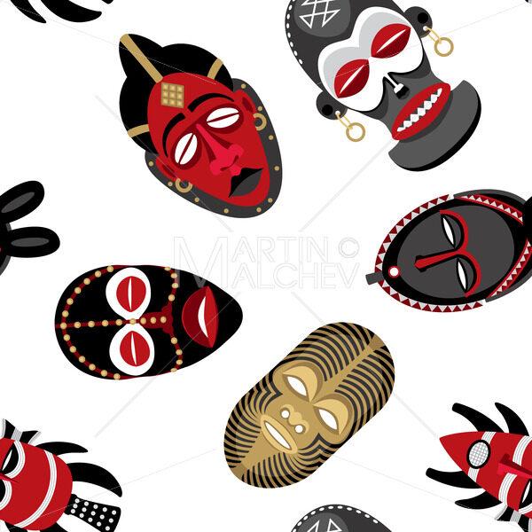 African Masks Pattern 2 - Martin Malchev